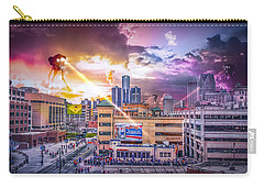 Carry-all Pouch featuring the photograph War Of The Worlds Detroit By Nicholas Grunas by Nicholas  Grunas