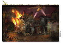 Carry-all Pouch featuring the photograph War - Wwi - Not Fit For Man Or Beast 1910 by Mike Savad