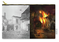 Carry-all Pouch featuring the photograph War - Wwi -  Not Fit For Man Or Beast 1910 - Side By Side by Mike Savad