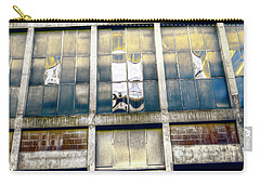 Carry-all Pouch featuring the photograph Warehouse Wall by Wayne Sherriff