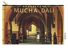 Carry-all Pouch featuring the photograph Warhol Mucha Dali. Series Golden Prague by Jenny Rainbow