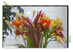 Warm Colored Flowers Carry-all Pouch