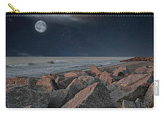 Warm Moonrise At For Fisher Carry-all Pouch
