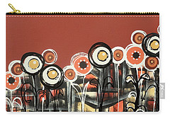 Warm Red Flowers Carry-all Pouch