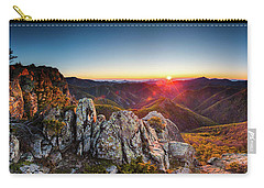 Warm Sunlight At Sunrise In The Mountain Carry-all Pouch