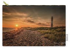 Warm Sunrise At The Fire Island Lighthouse Carry-all Pouch