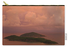 Warm Sunset Palette Of Inner And Outer Brass Islands From St. Thomas Carry-all Pouch