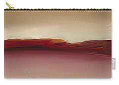 Carry-all Pouch featuring the painting Warm Mountains by Michelle Abrams