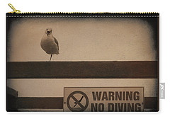 Warning No Diving 2 Carry-all Pouch
