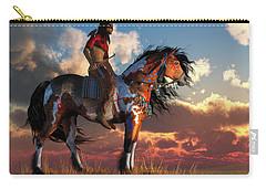 Warrior And War Horse Carry-all Pouch by Daniel Eskridge
