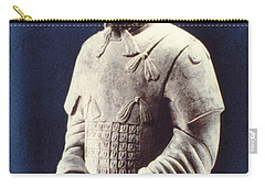 Carry-all Pouch featuring the photograph Warrior Of The Terracotta Army by Heiko Koehrer-Wagner
