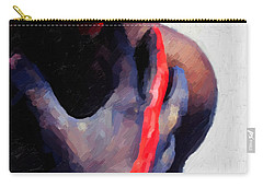 Carry-all Pouch featuring the digital art Warrior Princess by Serge Averbukh