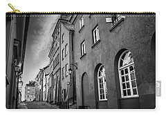Warsaw Street In Black And White  Carry-all Pouch