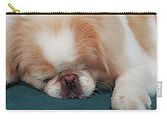 Carry-all Pouch featuring the photograph Wasabi, Japanese Chin. by Roger Bester