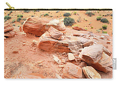 Carry-all Pouch featuring the photograph Wash 4 In Valley Of Fire by Ray Mathis
