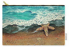 Carry-all Pouch featuring the painting Washed A Shore by Darice Machel McGuire