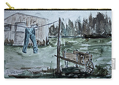 Carry-all Pouch featuring the painting Washed Pants by Jack G Brauer