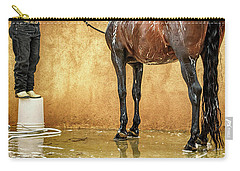 Washing A Horse Carry-all Pouch