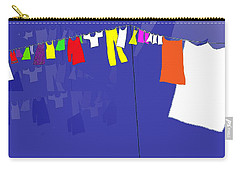 Washing Line Carry-all Pouch by Barbara Moignard