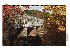 Washington Crossing Bridge Carry-all Pouch by Elsa Marie Santoro