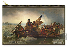 Carry-all Pouch featuring the photograph Washington Crossing The Delaware by John Stephens