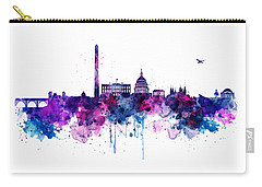 Washington Dc Skyline Carry-all Pouch by Marian Voicu