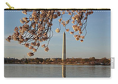 Washington Monument With Cherry Blossoms Carry-all Pouch