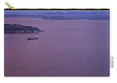 Washington State Ferry Sunrise Light Carry-all Pouch by Mike Reid