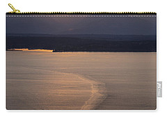 Washington State Ferry Sunset Carry-all Pouch by Mike Reid