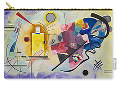 Carry-all Pouch featuring the painting Wassily Kandinsky,jaune Rouge Bleu by Celestial Images