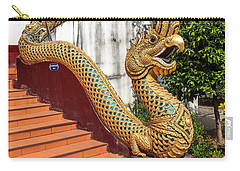 Carry-all Pouch featuring the photograph Wat Chiang Chom Phra Wihan Naga Dthcm0892 by Gerry Gantt