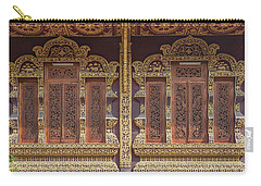 Carry-all Pouch featuring the photograph Wat Chiang Chom Phra Wihan Windows Dthcm0890 by Gerry Gantt