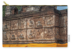 Carry-all Pouch featuring the photograph Wat Jed Yod Frieze Of Angels Or Deities On Maha Vihara Jedyod Dthcm0903 by Gerry Gantt