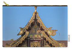 Carry-all Pouch featuring the photograph Wat Jed Yod Gable Of The Vihara Of The 700 Years Image Dthcm0963 by Gerry Gantt