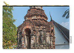 Carry-all Pouch featuring the photograph Wat Jed Yod Phra Chedi Containing Image Of Buddha Dthcm0911 by Gerry Gantt