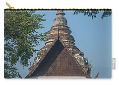 Carry-all Pouch featuring the photograph Wat Jed Yod Phra Ubosot Dthcm0967 by Gerry Gantt