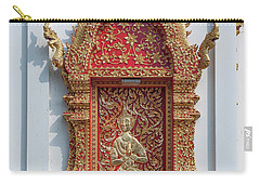 Carry-all Pouch featuring the photograph Wat Jed Yod Phra Wihan Rear Door Dthcm0916 by Gerry Gantt