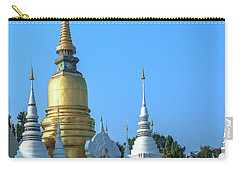 Carry-all Pouch featuring the photograph Wat Suan Dok Buddha Relics Chedi Dthcm0949 by Gerry Gantt