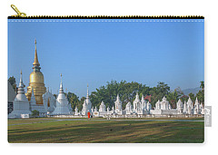 Carry-all Pouch featuring the photograph Wat Suan Dok Reliquaries Of Northern Thai Royalty Dthcm0944 by Gerry Gantt