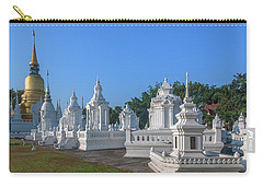 Carry-all Pouch featuring the photograph Wat Suan Dok Reliquaries Of Northern Thai Royalty Dthcm0945 by Gerry Gantt