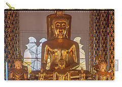 Carry-all Pouch featuring the photograph Wat Suan Dok Wihan Luang Buddha Images Dthcm0952 by Gerry Gantt