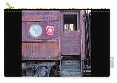 Watch Your Step Vintage Railroad Car Carry-all Pouch by Terry DeLuco