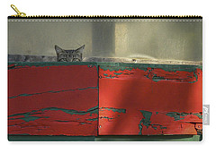 Watchful Cat Carry-all Pouch by Allen Sheffield