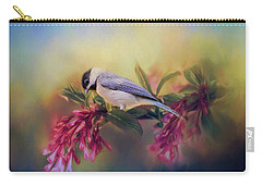 Watching Flowers Bloom Bird Art Carry-all Pouch by Jai Johnson