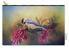 Watching Flowers Bloom Bird Art Carry-all Pouch by Jai Johnson