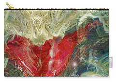 Carry-all Pouch featuring the digital art Watching Over  by Linda Sannuti