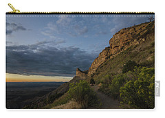 Carry-all Pouch featuring the photograph Watching The Sun Fade by Margaret Pitcher