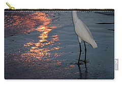 Carry-all Pouch featuring the photograph Watching The Sunset by Melissa Lane