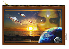 Carry-all Pouch featuring the painting Watching  The  Visitors by Hartmut Jager