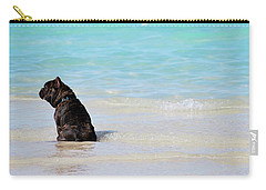 Carry-all Pouch featuring the photograph Watching The Waves by Amee Cave